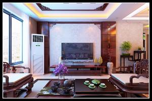 济南165㎡古典风格装修效果图