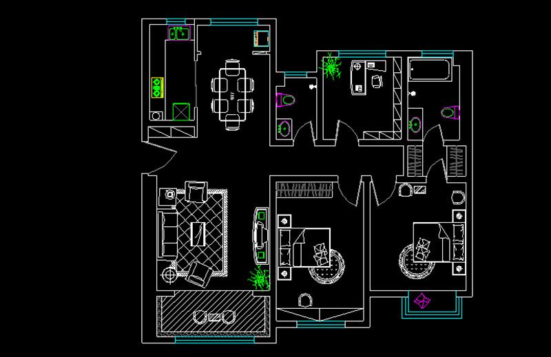 中海奥龙观邸现代简约装修效果图