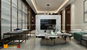 济南124㎡中式风格装修效果图