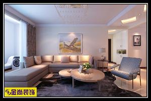 济南116㎡现代简约装修效果图