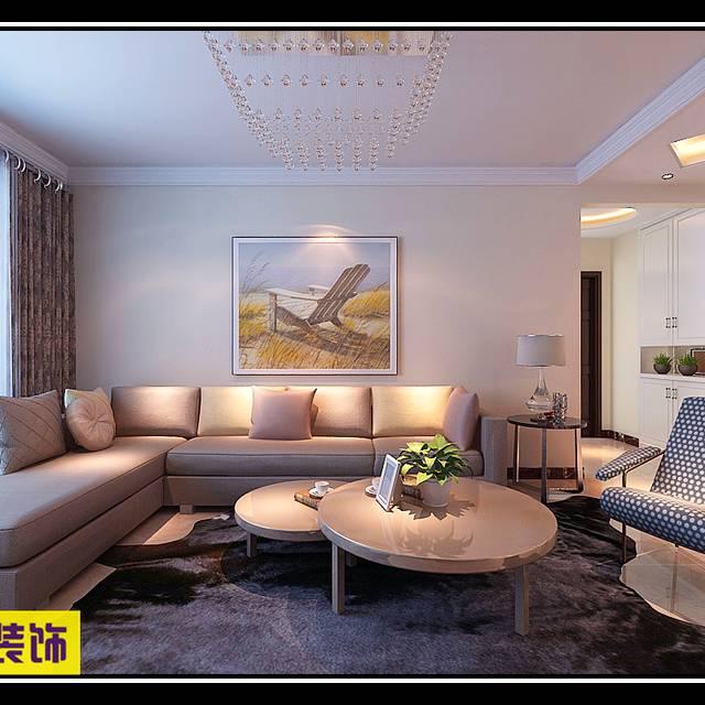 中海华山珑城116㎡普通户型现代简约装修案例