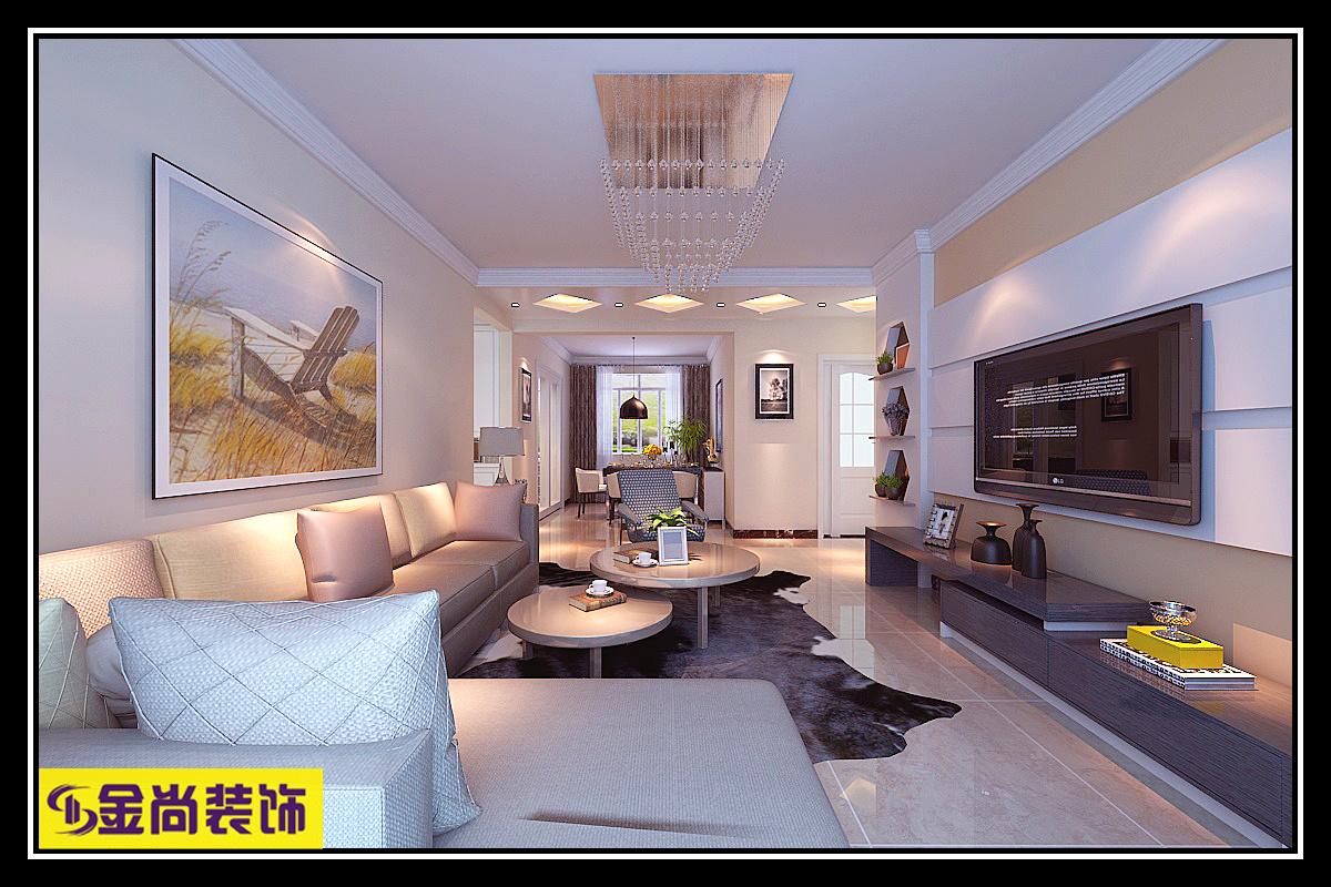 中海华山珑城现代简约装修效果图