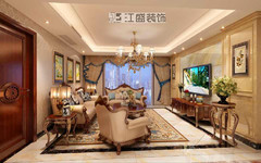金色蓝庭欧式风格装修案例