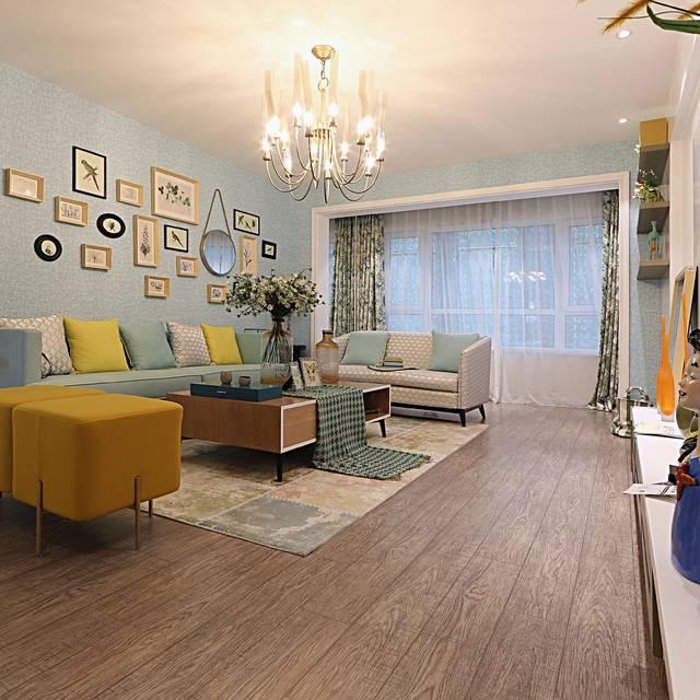 汇金广场公寓108㎡普通户型现代简约装修案例