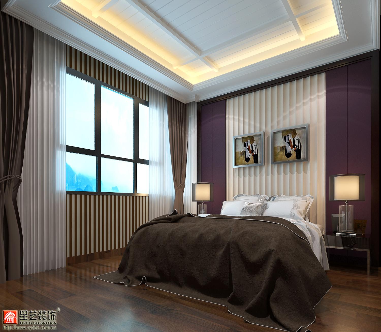 世纪豪庭美式风格装修效果图