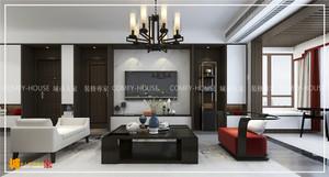 济南123㎡中式风格装修效果图