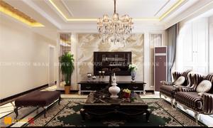济南120㎡古典风格装修效果图