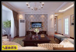 济南143㎡欧式风格装修效果图