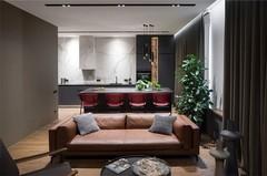 78m²透明玻璃划分空间,轻盈且质感