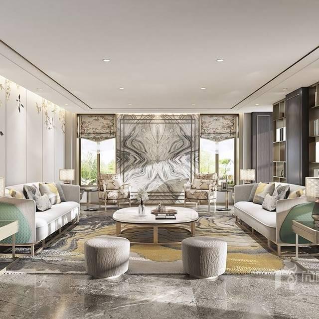 600平米轻奢风格600㎡别墅现代简约装修案例