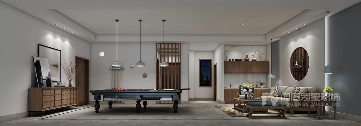 圣莫丽斯别墅--新中式风格现代简约装修效果图