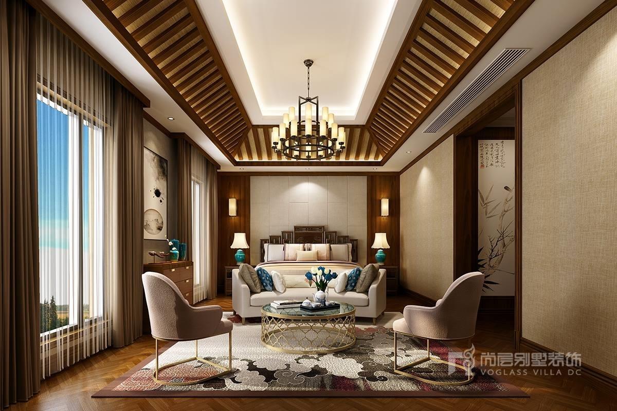 缘水岸别墅--现代中式中式风格装修效果图