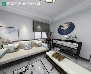 扬州118㎡中式风格装修效果图