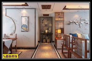 济南131㎡古典风格装修效果图