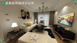 扬州115㎡欧式风格装修效果图