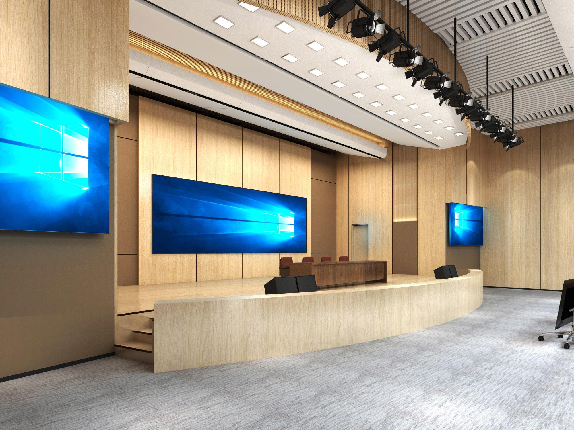 1150平米报告厅现代简约装修效果图