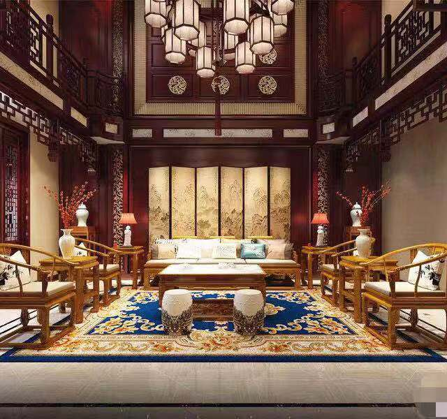 棕榈泉国际花园别墅650㎡别墅中式风格88真人平台案例