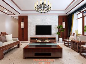 济南220㎡中式风格装修效果图