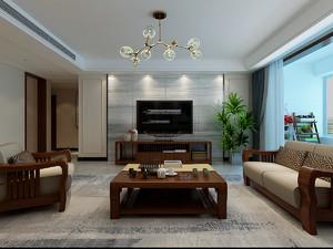 济南160㎡中式风格装修效果图