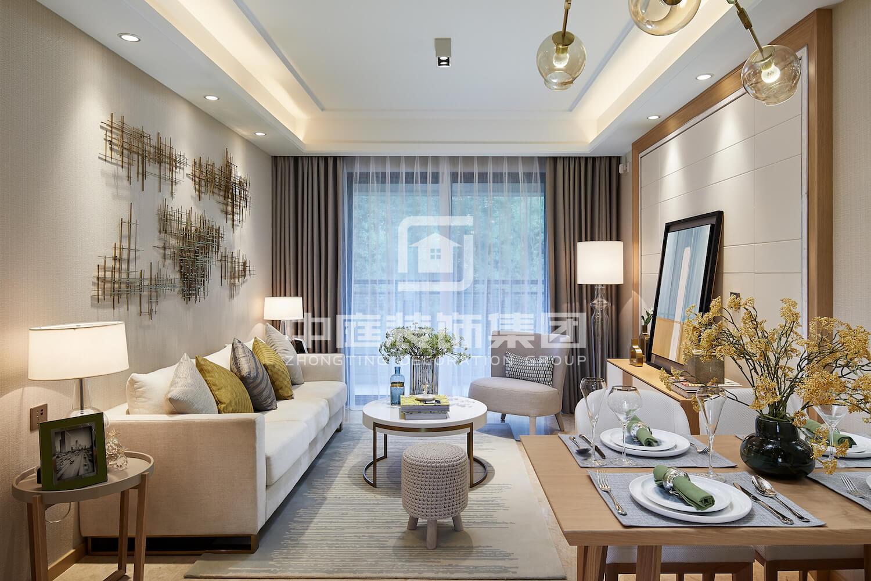 龍華金融廣場120平現代簡約風格案例裝修案例