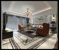 明月豪庭欧式风格装修案例