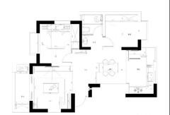 90㎡简约北欧风格小户型装修,2室2厅情调满满!