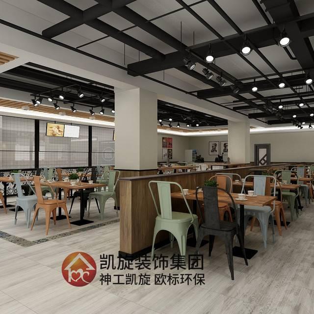 快餐店200㎡现代简约装修案例
