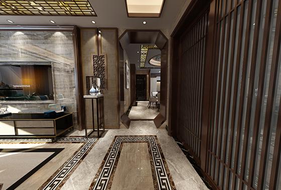 中央城中式风格装修效果图