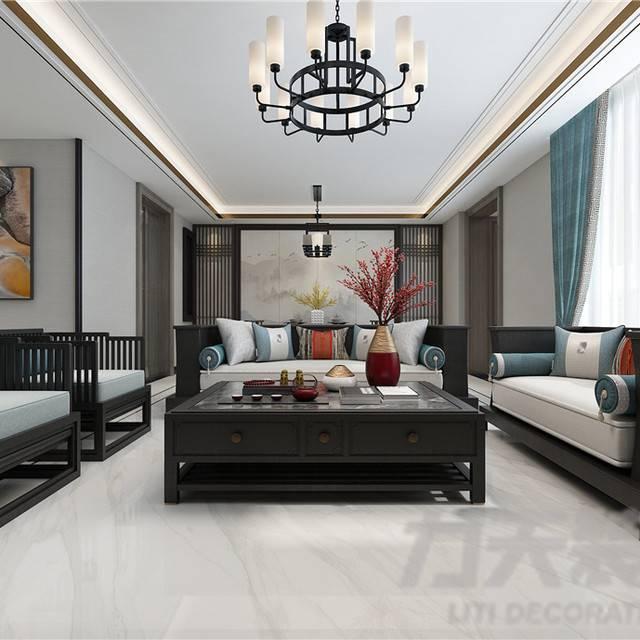 雅静园180㎡普通户型中式风格装修案例