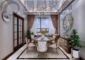 [鹏晨装饰]碧桂园塘溪源著 145平中式风格装修效果图装修设计案例