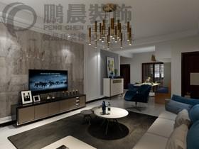 [鹏晨装饰]碧桂园镜湖世家121平现代风格装修效果图装修设计案例