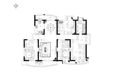 三塔别墅群中式风格装修效果图