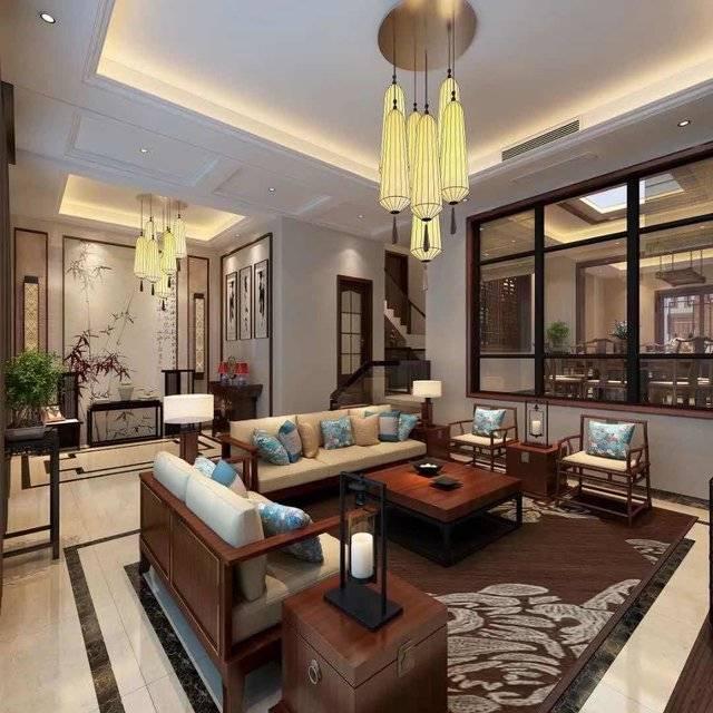 御江南500㎡别墅中式风格装修案例