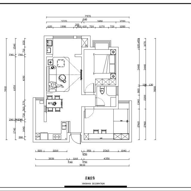 东紫园88㎡普通户型现代简约装修案例